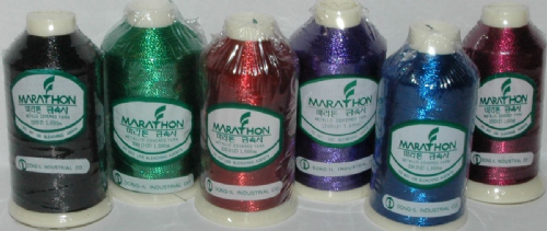 Marathon Embroidery Thread RAYON 6 Pack - Metallic Bold